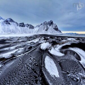 Mark Bauer Photography | ICE037 Ice Patterns, Vestrahorn