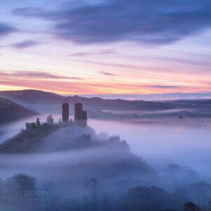 Mark Bauer Photography | PK213 Blue Hour Mist, Corfe Castle