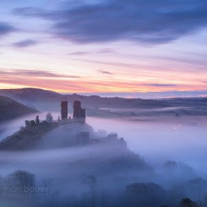 Mark Bauer Photography | PK213 Blue Hour Mist, Corfe Castle