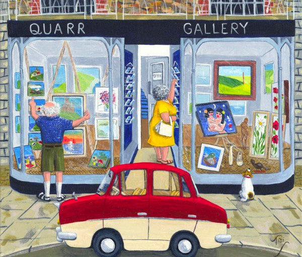 A permanent display of Mark's work is on show at Quarr Gallery in Swanage. The gallery also features the work of other local artists, including painters, sculptors and wood carvers.