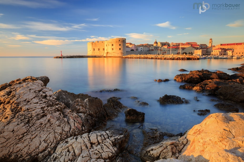 Mark Bauer Photography | A golden morning, The Old Harbour, Dubrovnik