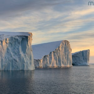 Mark Bauer Photography | Icebergs in late afternoon light, Disko Bay, Greenland