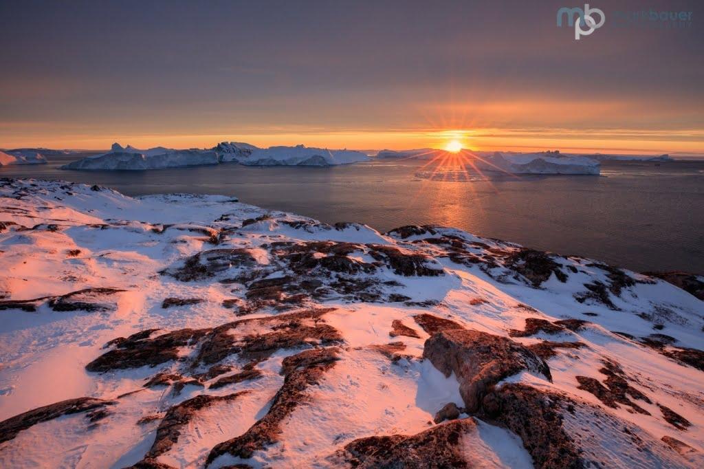 Mark Bauer Photography | Sunset, Disko Bay, Greenland
