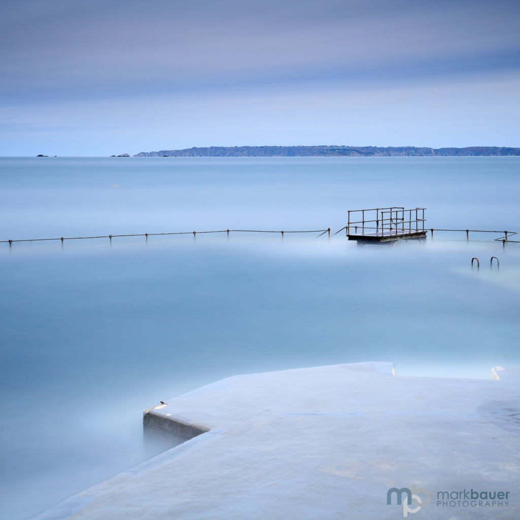 High tide, La Vallette Bathing Pools, Guernsey
