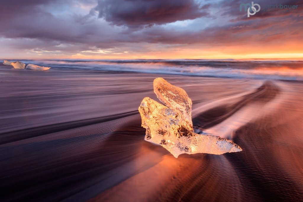 Mark Bauer Photography | Winter sunrise, the ice beach