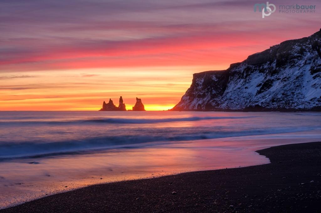 Mark Bauer Photography | Sunset, Vik, Iceland