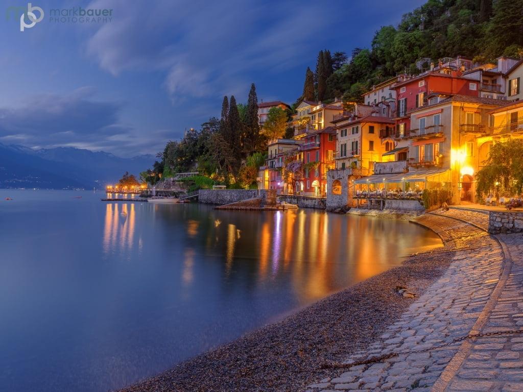 Mark Bauer Photography | Blue Hour, Varenna, Lake Como