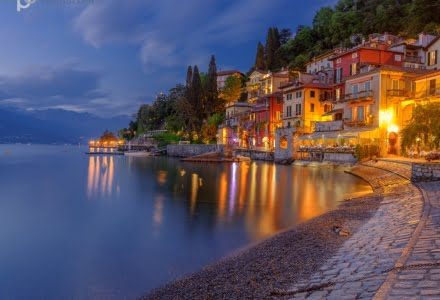 Mark Bauer Photography | Blue Hour, Varenna, Lake Como