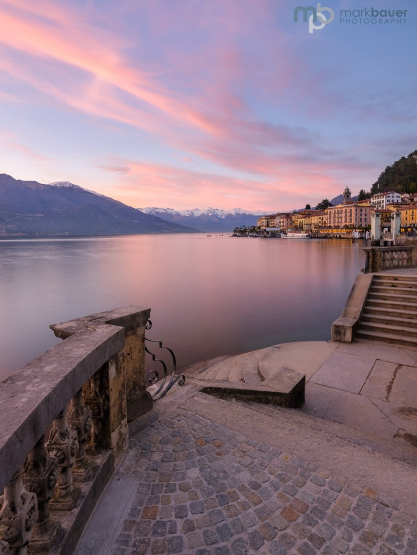 Mark Bauer Photography | Sunset, Bellagio, Lake Como