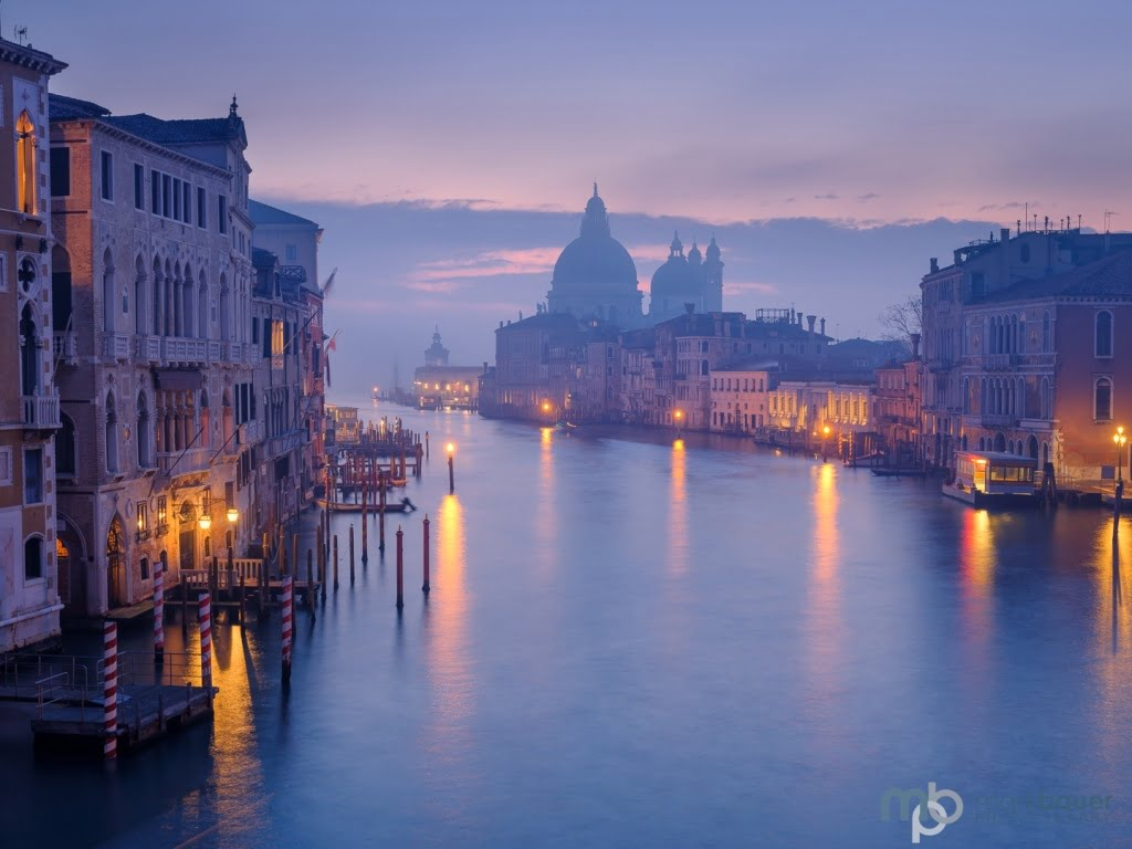 Mark Bauer Photography | Misty Dawn, Grand Canal, Venice, Italy