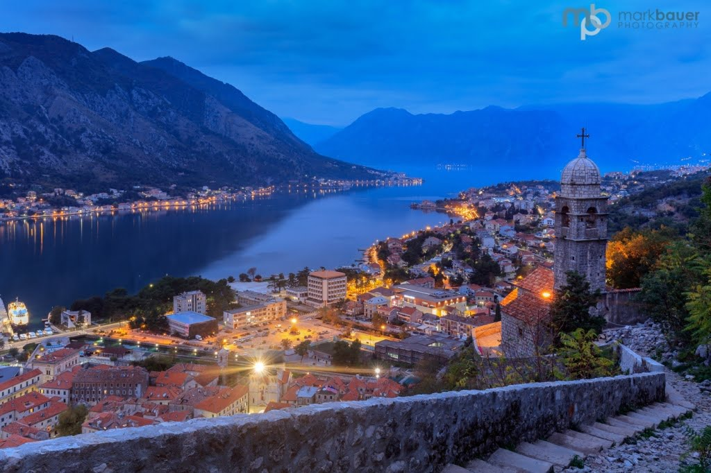 Mark Bauer Photography | Blue Hour, Kotor, Montenegro