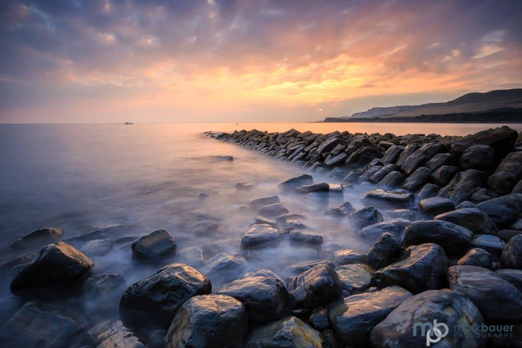 Mark Bauer Photography | Early autumn sunset, Clavell's Pier, Kimmeridge