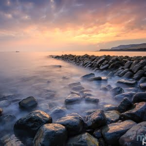 Mark Bauer Photography | Early autumn sunset, Clavell's Pier, Kimmeridge