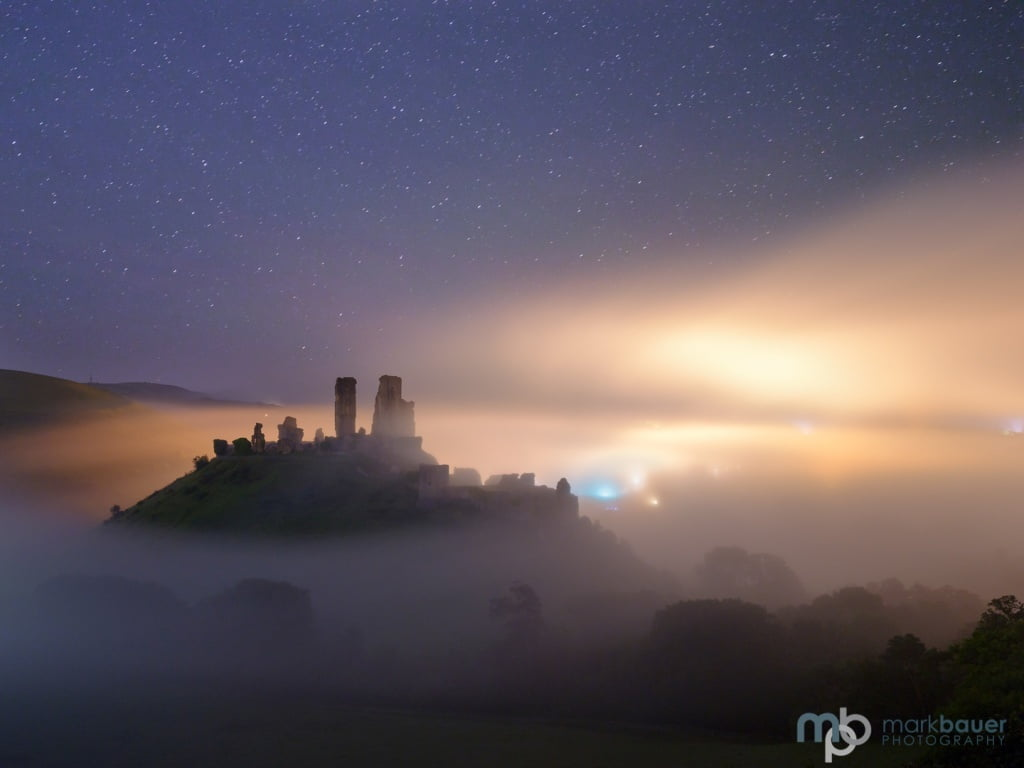 Mark Bauer Photography | Starry Night, Corfe Castle