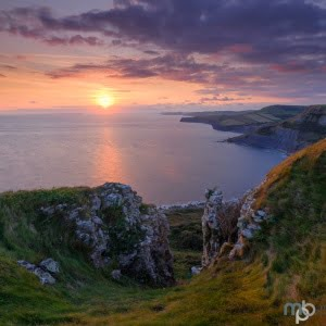 Mark Bauer Photography | Sunset over Chapman's Pool