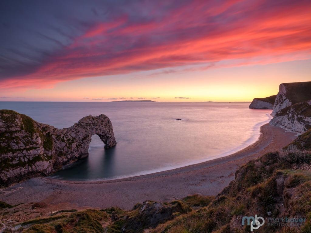 Mark Bauer Photography | Early autumn sunset, Durdle Door