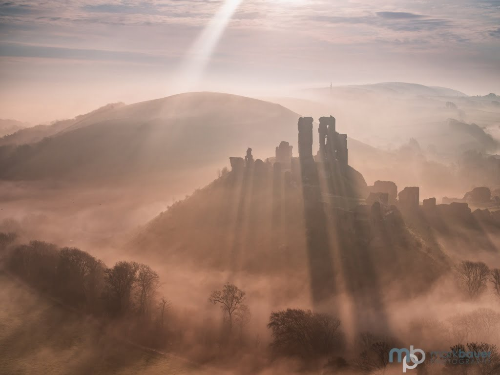 Mark Bauer Photography | Rays and Shadows, Corfe Castle
