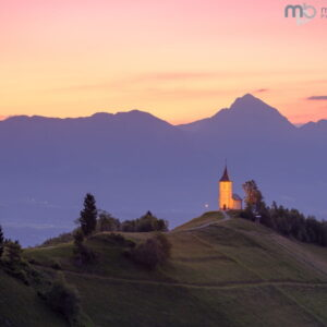 Mark Bauer Photography | Dawn Glow, St Primoz Church, Jamnik, Slovenia