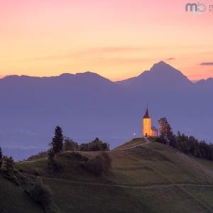 Mark Bauer Photography | Dawn Glow, St Primoz Church, Jamnik, Slovenia