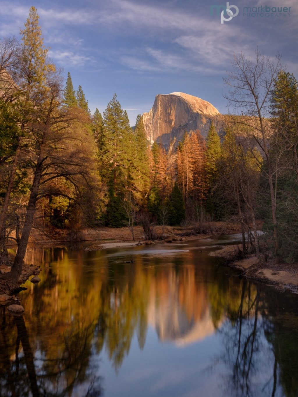 Mark Bauer Photography | Winter Light, Half Dome, Yosemite