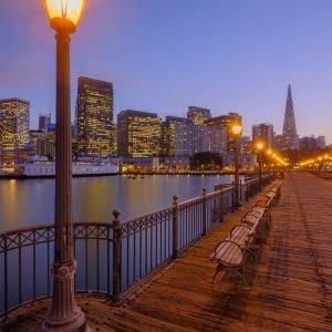 Mark Bauer Photography | Blue Hour, Pier 7, San Francisco