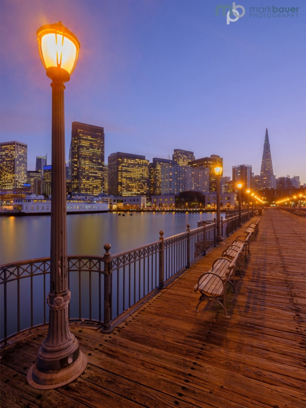 Mark Bauer Photography | Blue Hour, Pier 7, San Francisco