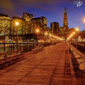 Mark Bauer Photography | Blue Hour, Pier 7, San Francisco #2