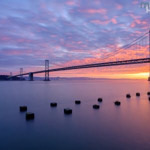 Mark Bauer Photography | Sunrise, Bay Bridge, San Francisco