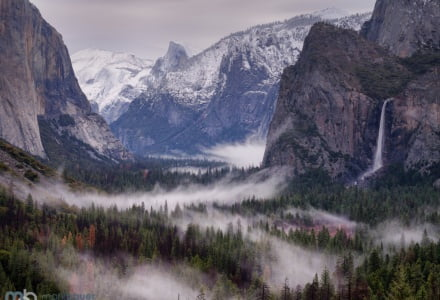 Mark Bauer Photography | Misty morning, Tunnel View, Yosemite