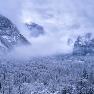 Mark Bauer Photography | Snowfall, Tunnel View, Yosemite
