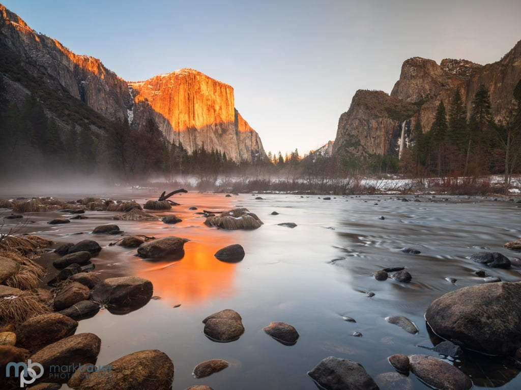 Mark Bauer Photography | Golden light, Valley View, Yosemite