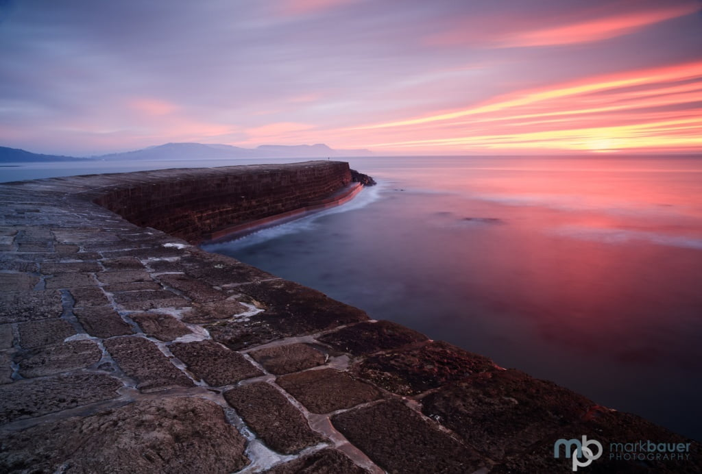 Mark Bauer Photography | Winter sunrise, The Cobb, Lyme Regis
