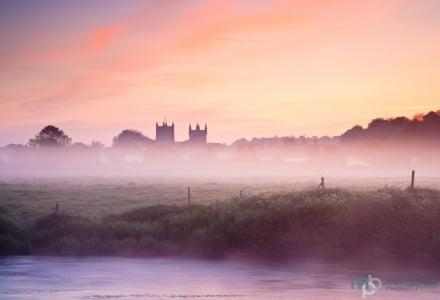 Mark Bauer Photography | Spring mist, Wimborne Minster