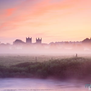 Mark Bauer Photography | Spring mist, Wimborne Minster