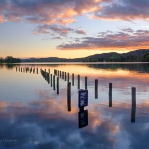 Mark Bauer Photography | Autumn Sunset, Coniston Jetty, Lake District