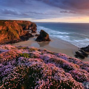 Mark Bauer Photography | Spring sunset, Bedruthan Steps, Cornwall