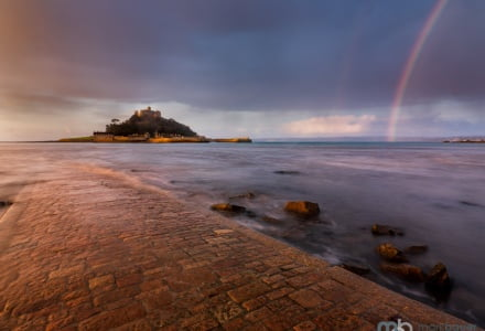 Mark Bauer Photography | Rainbow, St Michael's Mount, Cornwall