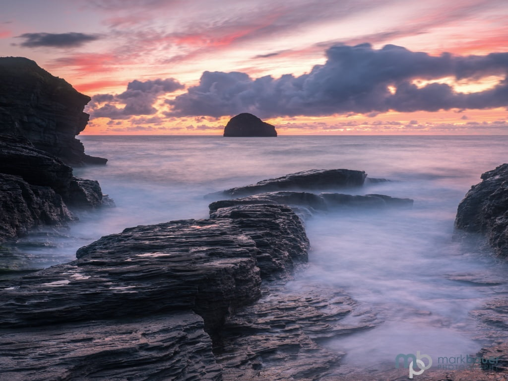 Mark Bauer Photography | Sunset, Trebarwith Strand, Cornwall