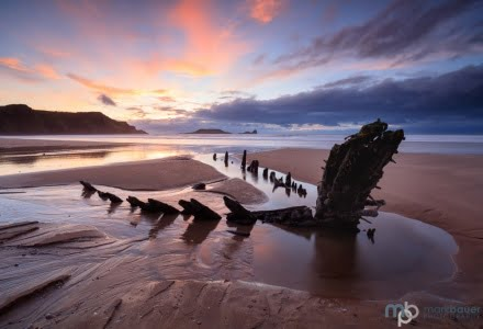 Mark Bauer Photography | Sunset, Rhossili Bay, The Gower, Wales