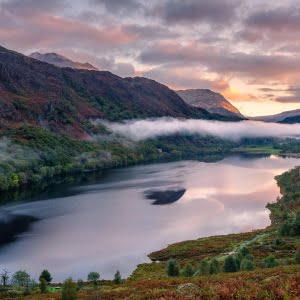 Mark Bauer Photography   Autumn sunrise, Llyn Dinas, Snowdonia